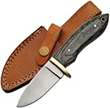 Cheap SZCO Supplies Black Wood Hunting Knife Stainless Steel Knife