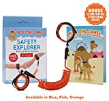 Toddler Leash Child Anti Lost Harness Wrist Link: With Double Velcro Wrist band and No-Cut Chain for Maximum Security - Comfy Wrist Straps Rotate 360 - Keep Kids Nearby - 2m Length - Baby Safety