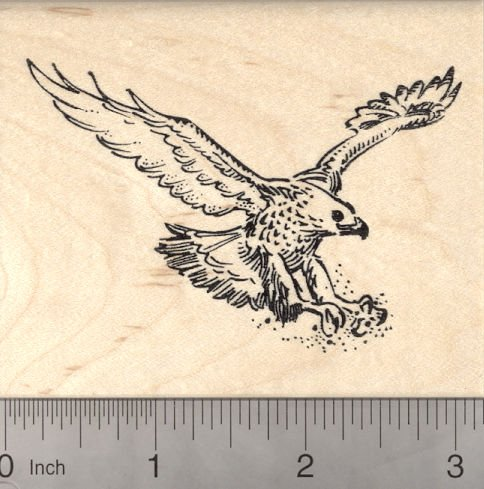 Golden Eagle Rubber Stamp
