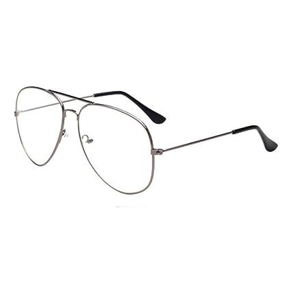 DDLbiz Men Women Clear Lens Glasses Metal Spectacle Frame Myopia Eyeglasses  Lunette Fe (B) 65d8b14334dd