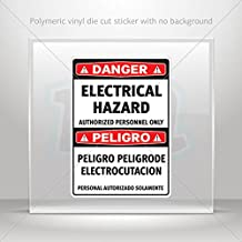 Decals Decal Danger Electrical Hazard Authorized Personnel Only / Peli (4 X 2.86 Inches)