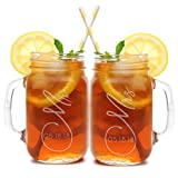 Set of 2, Personalized Mason Mug Set for Couples, Clear, Mr and Mrs Mason Jar Glasses – Custom Etched His and Her Gifts for Couples – Engraved for Free-10