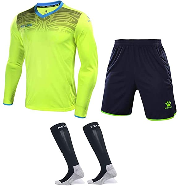 Amazon.com: KELME Soccer Goalkeeper Long Sleeves Jersey ...