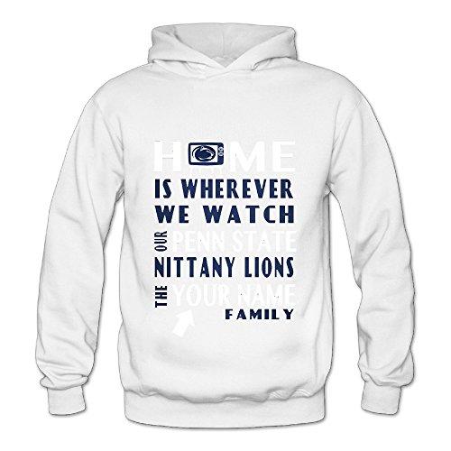 Geheimnis Gross Women's Penn State Nittany Lions 12 Hoodies Sweatshirt Size L US White