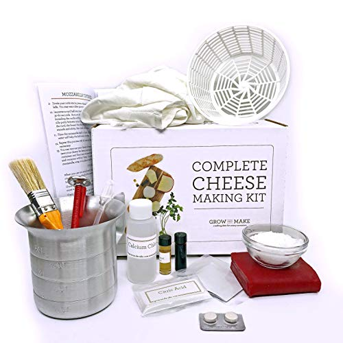 (Grow and Make DIY Complete Cheese Making Kit - Learn how to make Mozzarella, Ricotta, Colby, Gouda, and Monterey Jack!)