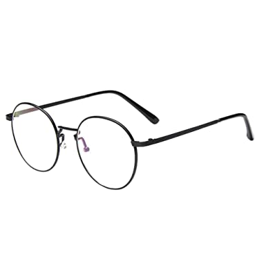 aa61b5abd3e Haodasi Vintage Round Frame Trendy Temple Myopia Eyeglass Short Sigth  Anti-fatigue Glasses Eyewear Coating Lens Strength -1.0~-5.0 (These are not  reading ...