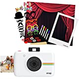 Polaroid SNAP Instant Camera (white) + Polaroid All-In-One Photo Booth Kit – Includes Backdrop, Fun Photo Props & Polaroid-Styled Frame – Perfect for Parties, Family Affairs & Corporate Events