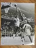 Bill Russell Signed Picture - & Wilt The Stilt Chamberlain 16x20 - PSA/DNA Certified - Autographed NBA Photos