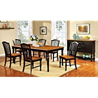 Furniture of America Antha 7-Piece Country Style Duo-Tone Dining Set