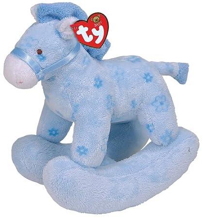 Amazon Com Ty Pretty Pony Blue Horse Toys Games