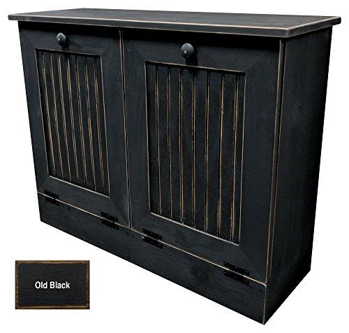 Double Trash Bin (Double Tilt Out Trash Cabinet (Old - Black))