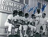 Steve Yeager Joe Ferguson Manny Mota Bill Russell Signed 8X10 Photo AutograpH - Autographed MLB Photos
