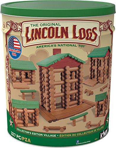 Lincoln Logs Collectors Edition Village – 327 Pieces – For Ages 3 – Preschool Education Toy