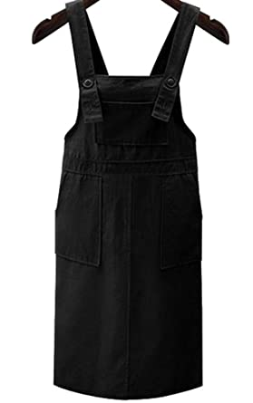 4251f937670 Amazon.com  Women s Fashion Cute Plus Size Suspender Jean Skirt Bib Denim  Overalls  Clothing