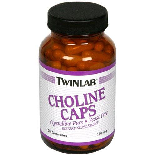 Twinlab Choline 300mg Caps, 100 Capsules (Pack de 3)