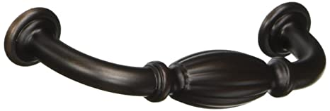 Amerock BP55222-ORB Allison Value Hardware French Country Collection Oil Rubbed Bronze Cabinet Handle Pull 10 Pack by Amerock 3 Hole Centers