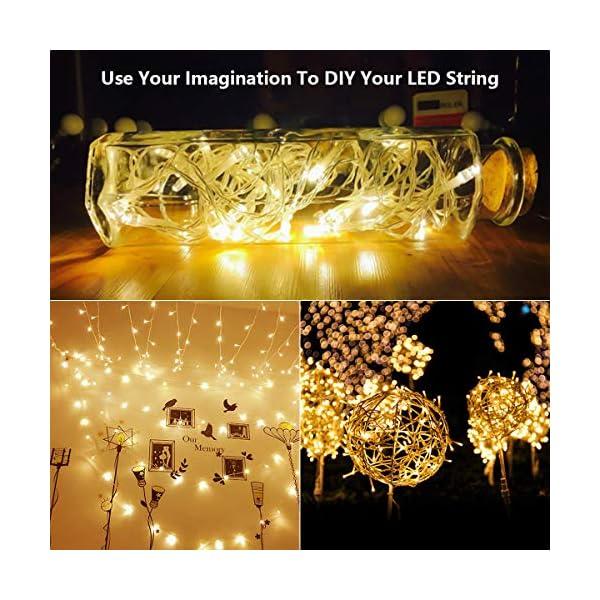 300 luci per tende a LED, 3 x 3 m,8 modalità, IP44 impermeabile, stanza, matrimonio, padiglione da giardino, Halloween,decorazioni natalizie [Classe di risparmio energetico A +++] 6 spesavip