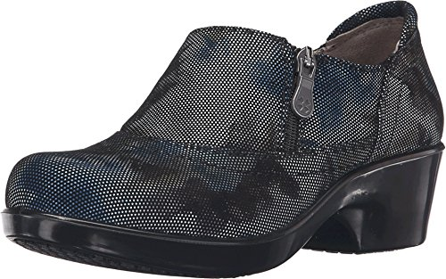 Naturalizer Womens Florence Blue Brown Abstract Dot Leather Shoe