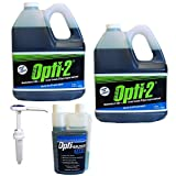 Opti-2 20044 2 Gal 2-Cycle Engine Lubricant w/ Stabilizer, Pump, Fuel Treatment