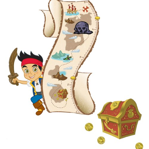 (Roommates Rmk1955Slm Disney Jake And The Neverland Pirates Peel And Stick Growth Chart)