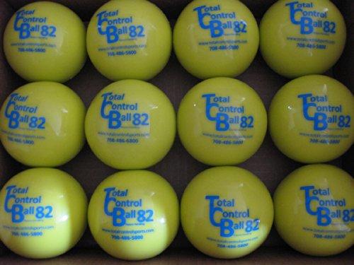 (TOTAL CONTROL BALL TCB 82 Softball Weighted Training Hitting Batting Aid ~ 12 Ball Pack)