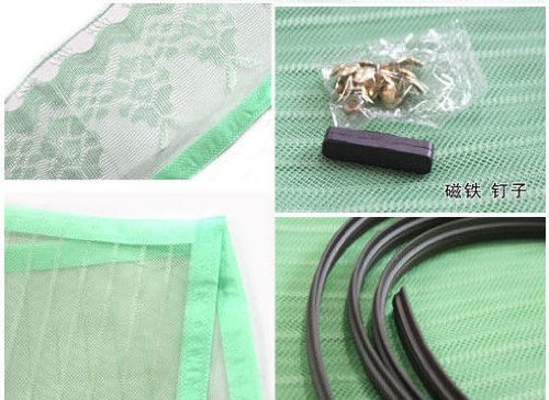 New Mesh Hands-free Magnetic Screen Door Curtain Net Anti Mosquito Fly Bug Qwb (green)