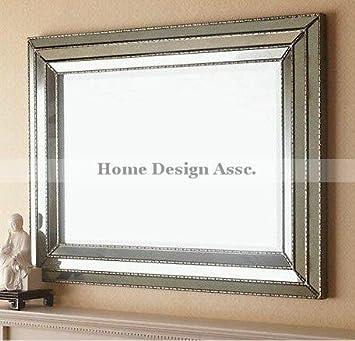 Amazon.Com: Large Art Deco Designer Wall Mirror Hollywood Glass
