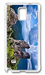 MOKSHOP Adorable amazing Storm Clouds Landscape Hard Case Protective Shell Cell Phone Cover For Samsung Galaxy Note 4 - PC Transparent by Maris's Diary