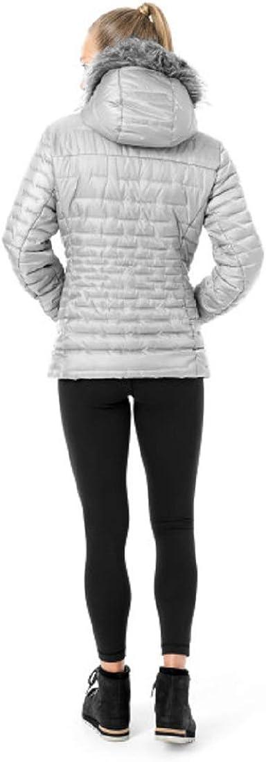 SPYDER Women/'s Edyn Insulated Waterproof Down Winter Jacket with Faux Fur Hood