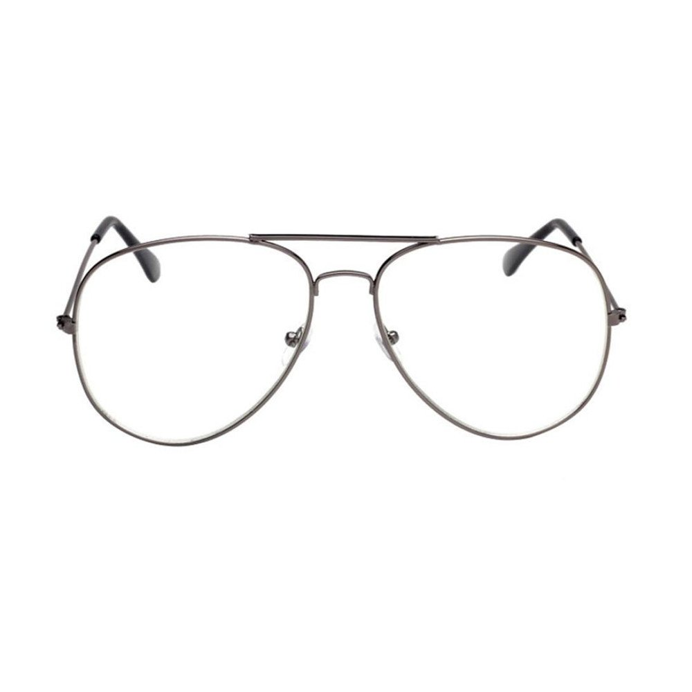 Amazon.com  Simayixx Men Women Clear Lens Glasses Metal Spectacle Frame  Myopia Eyeglasses Lunette Fe (B)  Sports   Outdoors 3402ffc4682f