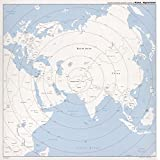 """Historic Prints HP 24"""" x 24"""" 1980 Map Of Kābul Afghanistan Azimuthal Equidistant Projection"""
