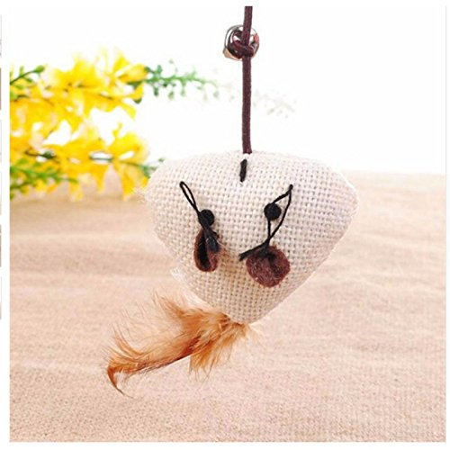 Toys Cats - Product Interactive With Bells Elastic Rod Has A Funny Mouse Pumpkin Feather Chick Fish Mascotas - Dollars Replacement Puzzle Frame Under Bird Stuffing Pole Items Animal Yarn Motoriz
