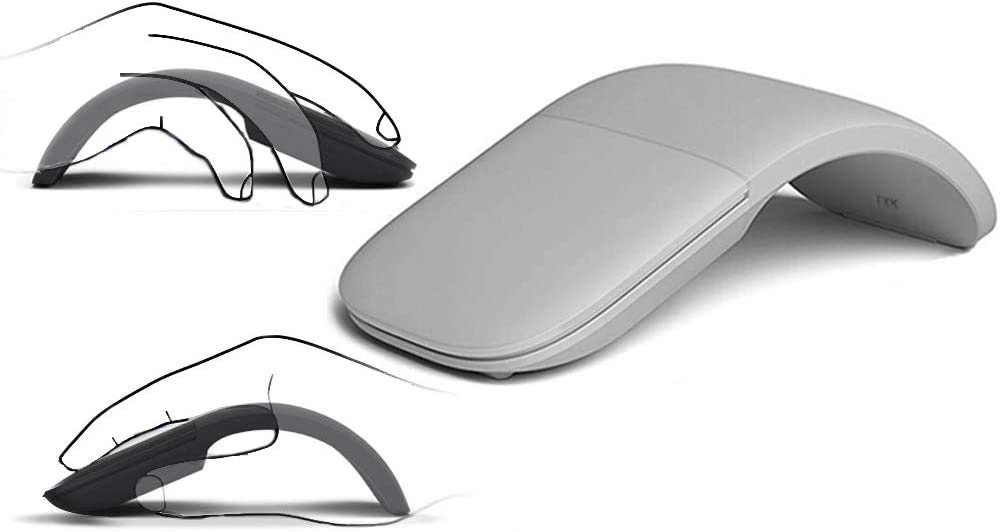 Slim and Portable 2.4Ghz Wireless Foldable Folding Arc Optical Mouse Foldable Bluetooth Mouse or Compatible with Notebook, PC, Laptop, Computer, MacBook.for Home,Office,Travel (White)