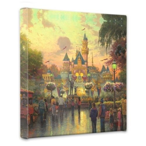 Thomas Kinkade Disneyland 50th Anniv Gallery Wrap Canvas