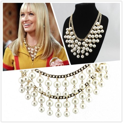 (US Comedy 2 Broke Girls Multiple Layers Fashion Pearl Great Quality)