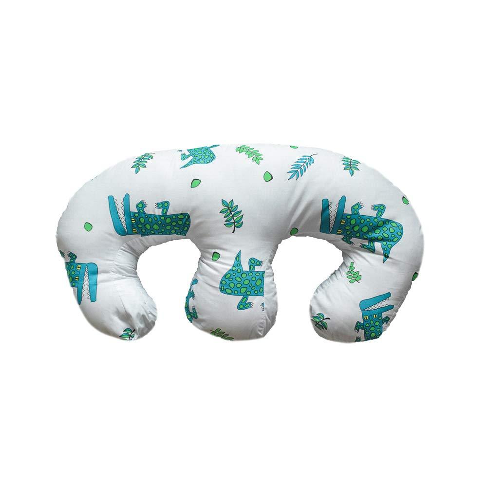 Almohada de lactancia para apoyo completo: cocodrilo azul ...