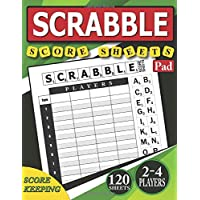 Scrabble Score Sheets Pad: 120 Score Keeping for Scrabble Game | 2-4 Players | Scrabble Score Cards | Scoring  Sheet | Score Keeper Large Notebook 8.5 x 11 |