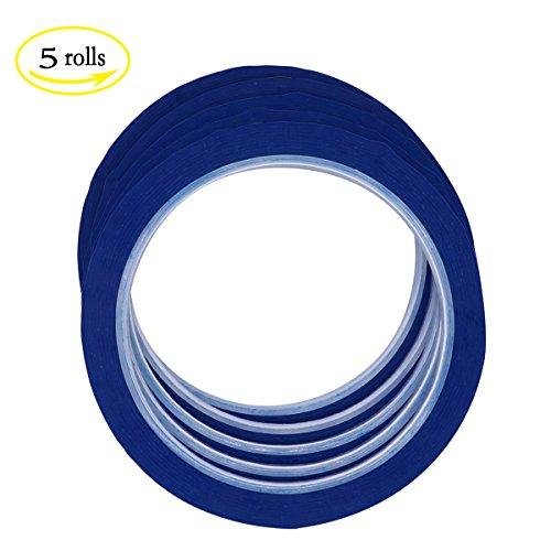 LGEGE 5 rolls blue Graphic Chart Tape / Artist Tape (Width: 3mm, 164ft per roll)