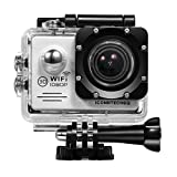 Sports Outdoors Best Deals - ICONNTECHS IT Full HD 1080P Waterproof WIFI Sport Action Camera FHD 60 fps HDMI 14MP 170 Degree Wide Viewing Angle 2.0 Inch LCD Underwater DV Camcorder for Extreme Outdoor And Water Sports (Silver)