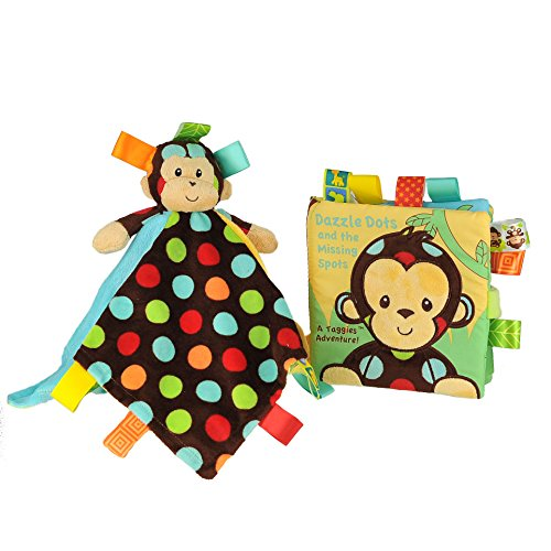 (Taggies Dazzle Dots Monkey & Book Multi Color Unisex Kids Toys)