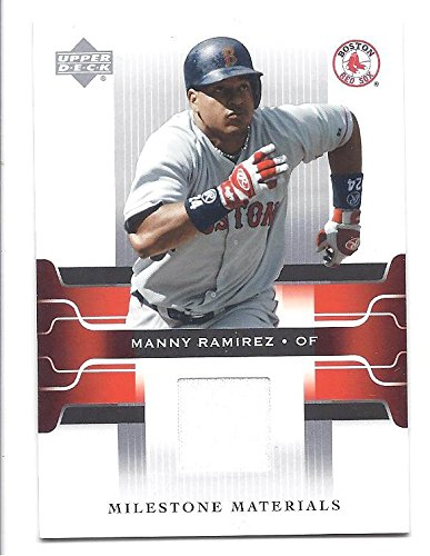 the best attitude bd409 a1f0d MANNY RAMIREZ 2005 Upper Deck Milestone Materials #MR GAME ...