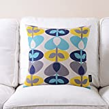 More colors American country-style pillow PP cotton back cushion Sofa bedside cotton and linen pillowcase-O 45x45cm(18x18inch)VersionA