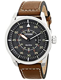 Citizen Men's AW1361-10H Sport Analog Display Japanese Quartz Brown Watch