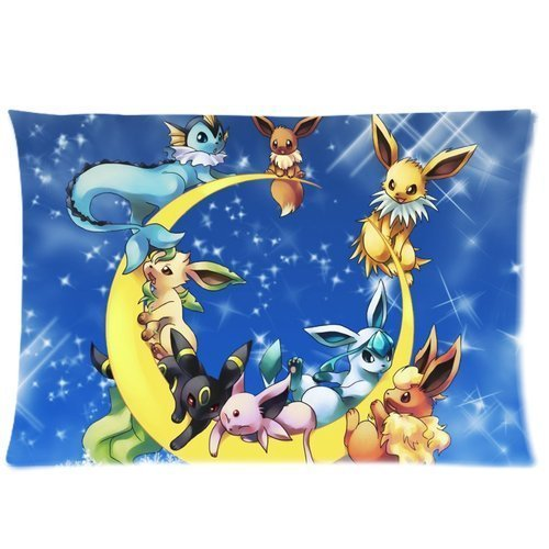 Lovely-Pokemon-Moon-Eevee-Custom-Design-Personalized-Pillowcase-Pillow-Sham-Queen-Size-Pillow-Cushion-Case-Cover-Two-Sides-Printed-2030-inches-Inches