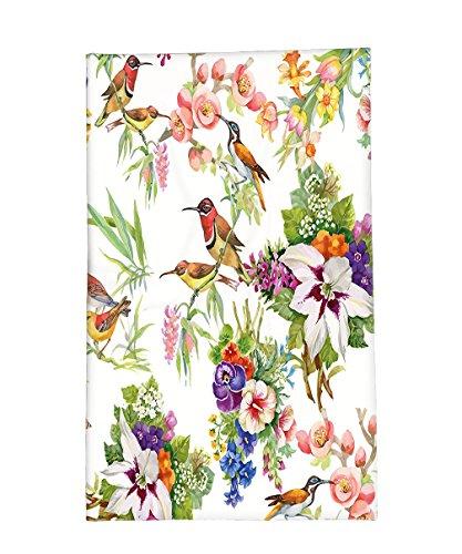 Mockingbird Costume For Sale (Interestlee Fleece Throw Blanket Floral Watercolor Wild Exotic Mockingbirds and Spring Flowers Branches Botanical Artwork Multicolor)