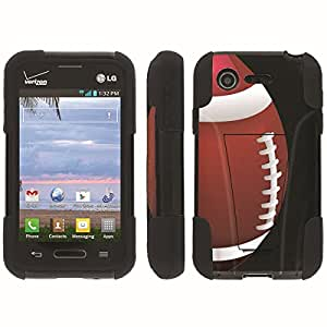 [ArmorXtreme] Hybrid Armor View-Stand Design Image Protect Case (Football) for LG Optimus Zone 2 VS415PP / L34C Fuel