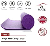 Yogi-Purple 6 MM Yoga MAT with Free Carry Strap