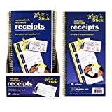 Adams Business Forms Write N' Stick Receipt Book, 7-5/8''x11'', 600 Total Sets