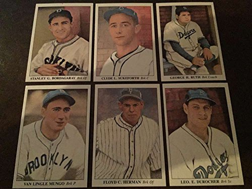 1985 America's National Pastime 1930-1939 Brooklyn Dodgers Team Set 6 Cards Babe (Babe Ruth Brooklyn Dodgers)