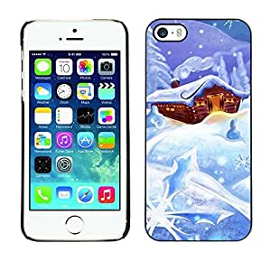 YOYO Slim PC / Aluminium Case Cover Armor Shell Portection //Christmas Holiday Snow Cabin 1210 //Apple Iphone 5 / 5S